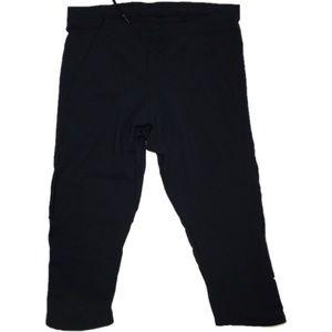 Sugoi Black Athletic capris leggings mesh calves